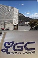 The steep approach to Gomà-Camps's La Riba plant in Tarragona