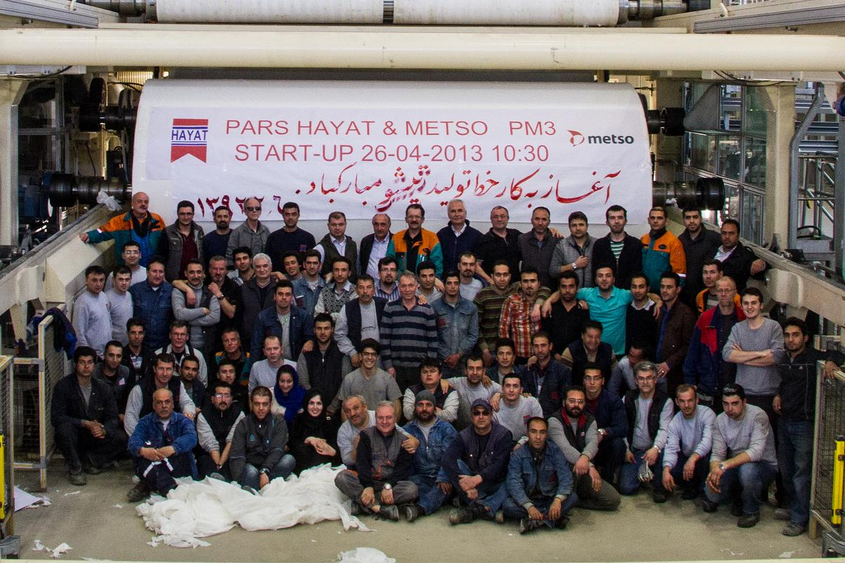 Turkey: Pars Hayat Kagit tissue mill started up on 26 April 2013 in Iran