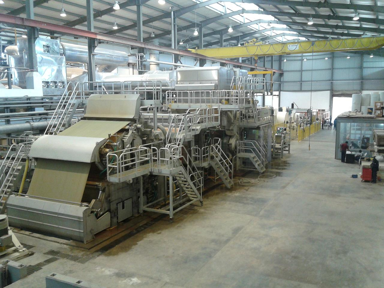 The complete tissue production line installed at the Bel Papyrus site in Lagos, Nigeria