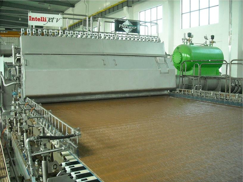 A PMP machine running at Zhaoqing Kelun Paper in China