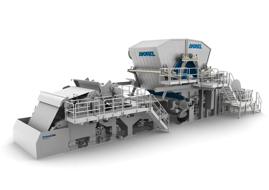 The PrimeLineST tissue machine is designed for speeds of 1,900m/min