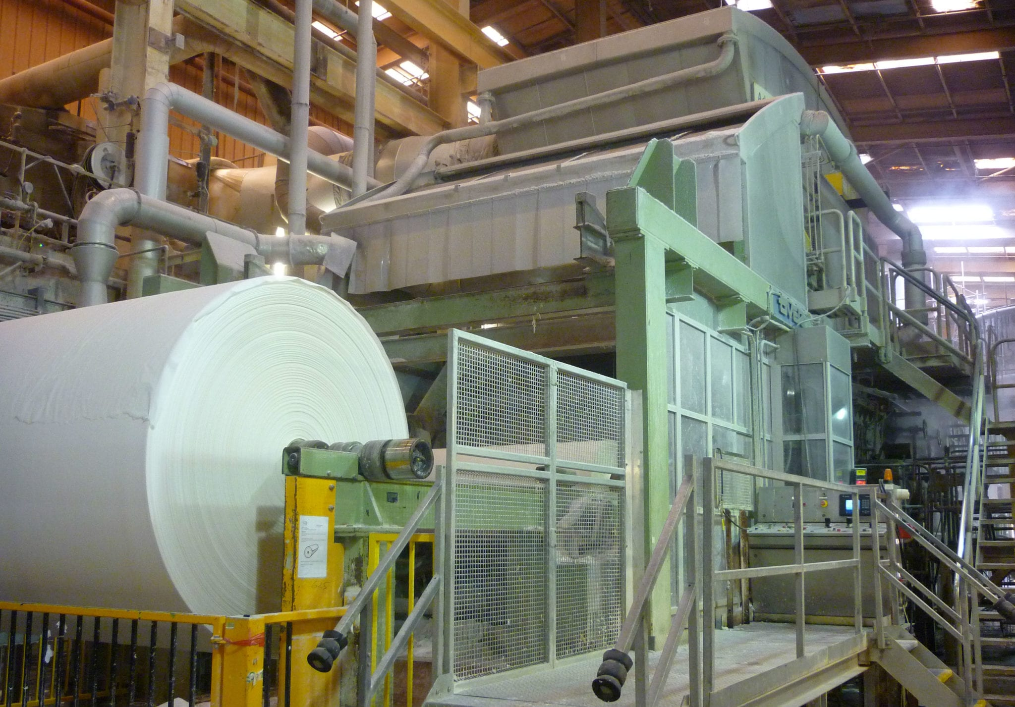 Side view of the Metso rebuilt PM1.