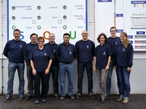 Neuss staff with site manager Bernd Bichbeimer (forth from right)