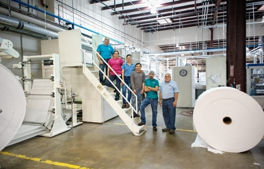 The family-owned business was established in 1984 and now produces high quality paper products, toilet paper and napkin.