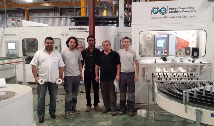 SICIE's administrator Khalid Jaffer (left ), with PCMC and SICIE teams technicians