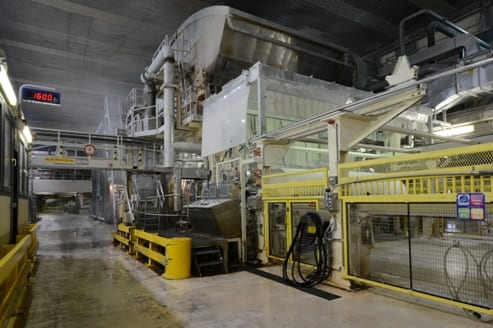 The plant's two PMs produce 80,000 tpy