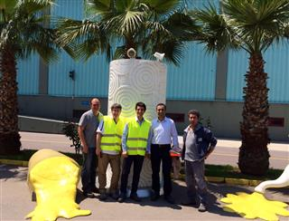 From left: Jose Melgoza (PCMC's field service and customer support engineer), Stefano Spinelli (PCMC Italia's R&D manager), Gino Santi (PCMC Italia's sales and product manager), Omer Baykir (Ipek Kagit's project manager), Marco Simonini (PCMC's installation and service staff).