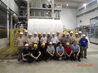 Startup staff at Yuen Foong Yu's Yangzhou mill in China