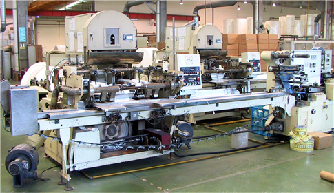 Gold Hongye's paper processing company's pocket facial production line