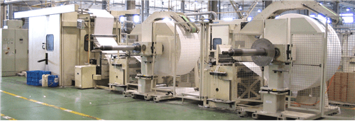 Gold Hongye's paper processing company's box facial production line