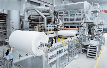 由安德里兹PM1所组成的义厚成卫生纸生产线于2014年5月开始投产。