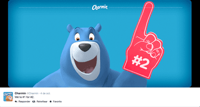 A captivating image posted on Charmin's Twitter page.