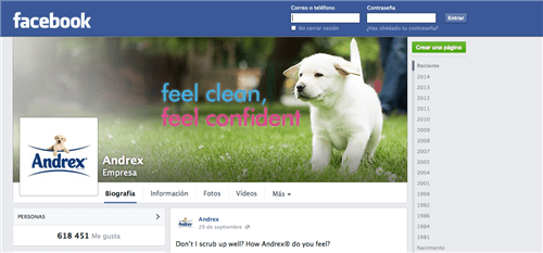 618,451 Andrex followers on Facebook