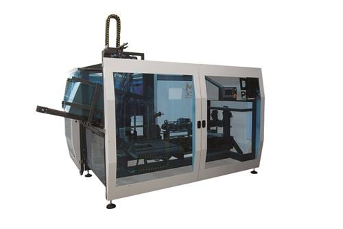 The company's side and top load case packer machine Geos