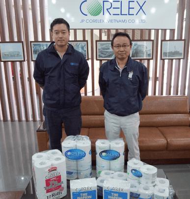 Financial manager Shinya Narisawa (left) and general director Masahiko Nagata at the company's site based 40km from Hanoi, northern Vietnam