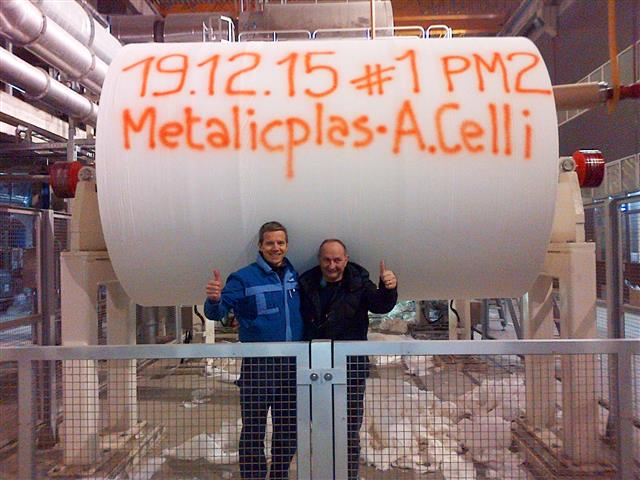 The start-up team at Metalicplas's plant in Romania
