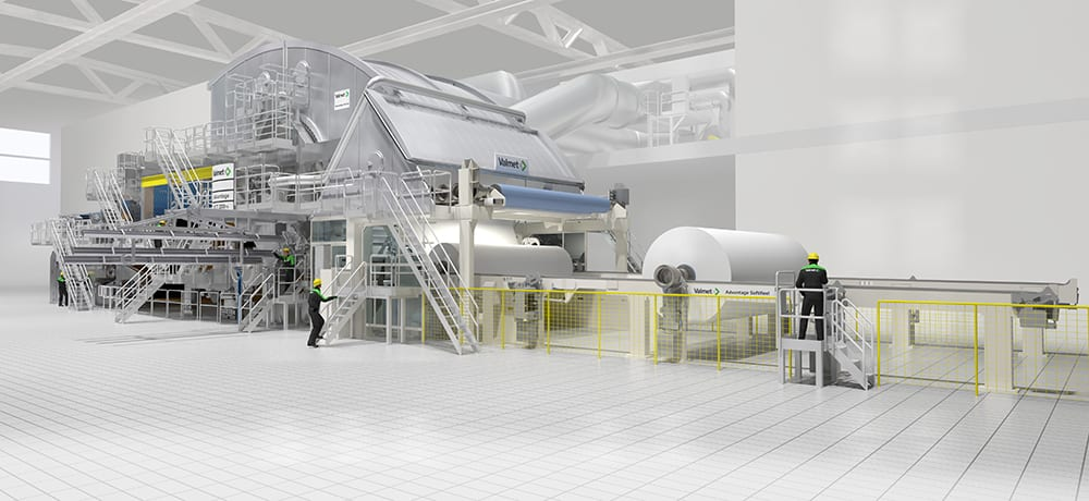 The Valmet Advantage DCT TS tissue machine will add 60,000tpy of high quality tissue to Fine Hygienic Holding's current production