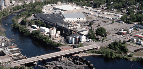 The SCA South Glens Falls plant from above, 2015. Photo by American Images Custom Aerial Photography® Marshfield, WI (www.americanimages.com)