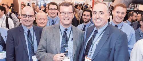 """Enzymatic Deinking Technologies claimed the prestigious """"Most Sustainable Exhibitor"""" award for repeated efforts to ensure its booth is as environmentally-friendly as possible."""
