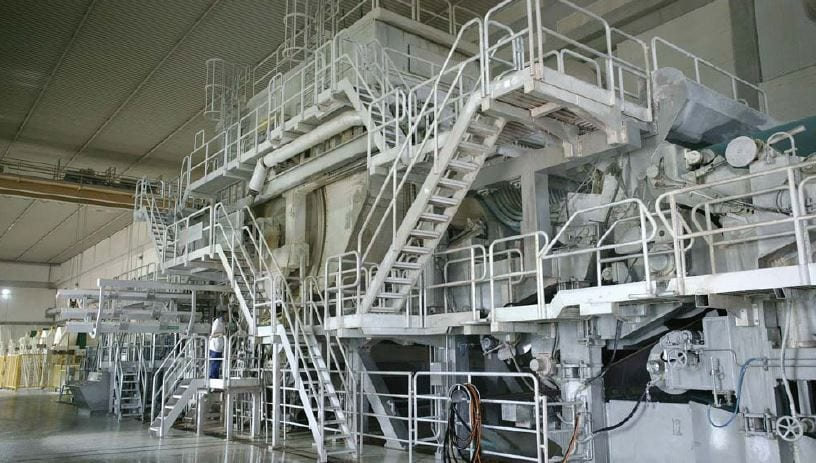 The Diecimo plant's PM7 is one of nine tissue paper machines the group operates across Europe.
