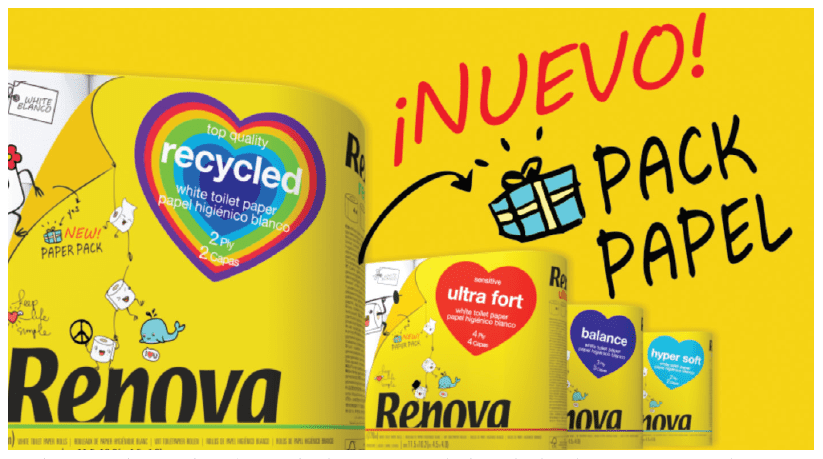 Cutting-edge innovation: Portugal's Renova recently launched toilet paper wrapped in paper instead of plastic.