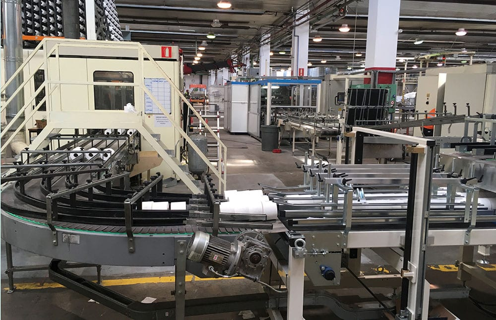 Production efficiencies: the company aims to have all converting production under one roof