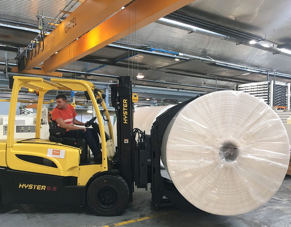 On site in Artziniega: modernising the former CEL production sites enabled Lucart Group to develop its presence in the Spanish, Portuguese and south of France markets