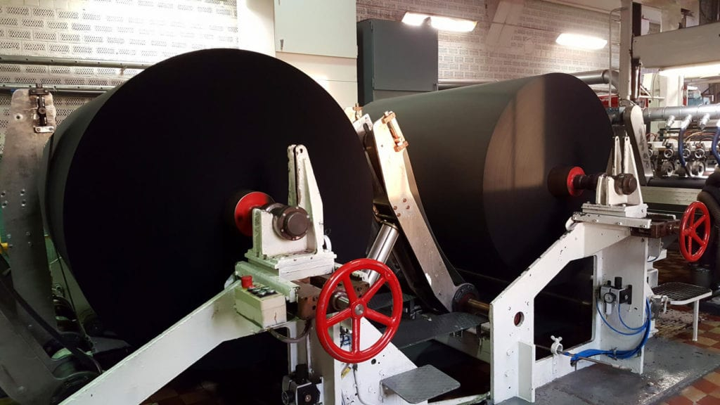Increasing export potential: black jumbo rolls make up 20% of the site's production
