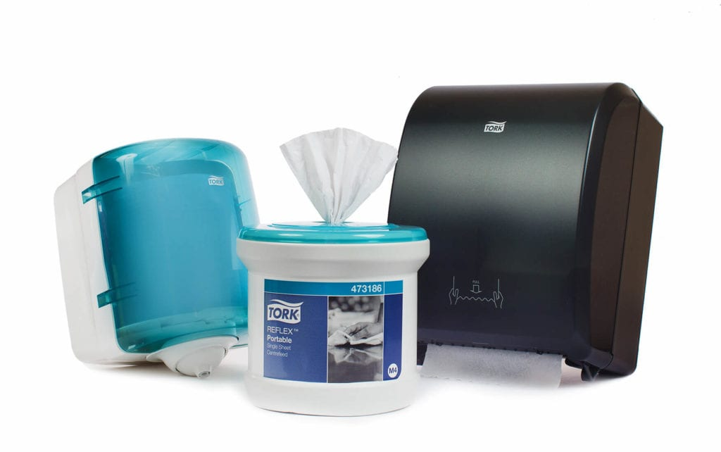 Product diversity: local tissue purchasing trends have underpinned the strength of brands such as Essity's Tork.