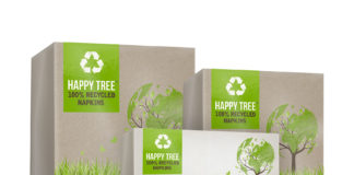 Innovation: Poppies Europe has developed a new brand – 'Happy Tree' – which is made from 100% recycled unbleached tissue