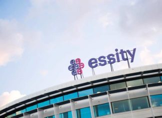Essity sign on office