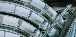 Tissue rolls on machine, Navigator Company