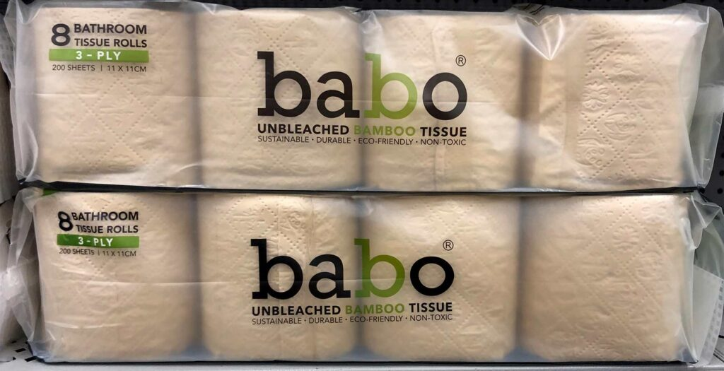 Above: This year Babo toilet paper brand appeared at several CVS pharmacies in Florida