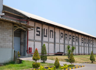 Gearing up: The company's 13-acre Sun Paper Source plant in Indonesia; Following the outbreak of Covid-19, the businesses have expanded into new and bigger markets they previously weren't able to get a foothold in.