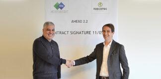 Saudi Paper Group's CEO Yousseri Abdel Hamid Abdel Aziz El Bishry, and Toscotec's CEO Alessandro Mennucci